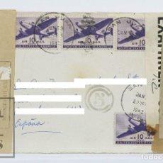 Sellos: FRONTAL DE SOBRE CIRCULADO CON SELLOS AIR MAIL USA - AÑOS 30-40. Lote 125821587