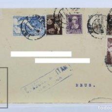 Sellos: SOBRE CIRCULADO MANUEL SATORRAS CAPELL, ABOGADO - MATASELLOS CENSURA MILITAR - GUERRA CIVIL, 1939. Lote 125889007