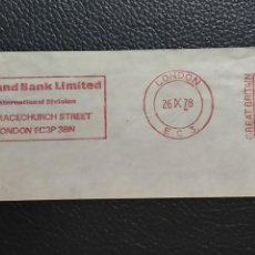 Sellos: FRANQUEO MECANICO. FRAGMENTO. MIDLAND BANK LIMITED. LONDON. AÑO 1978. Lote 128740223