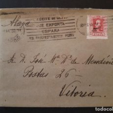 Sellos: CARTA CIRCULADA DE MADRID A VITORIA EN 1930 . Lote 132757434
