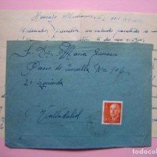 Sellos: FILATELIA - SOBRE FECHADOR HORCAJO MEDIANERO 7 NOV. 1960 - CONTIENE CARTA - 18 X 13 CM. Lote 132938134