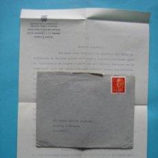 Sellos: FILATELIA - EDIFIL 1153 - SOBRE GUIPUZCOA RODILLO 7ABR. 1966 - CONTIENE CARTA COLEGIO ENFERMERAS . Lote 132939234