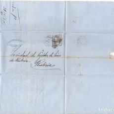 Selos: SOBRE CIRCULADO DE A. LEON MAYOR DE SAN SEBASTIAN A RENTERIA, GIPUZKOA. 16 DE SETIEMBRE DE 1870. Lote 133698997
