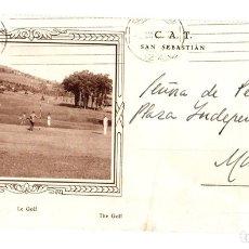 Sellos: SOBRE CIRCULADO CAMPO DE GOLF. SAN SEBASTIAN. 1933. Lote 133895619