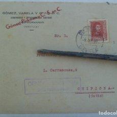 Sellos: GUERRA CIVIL: SOBRE DE DOS HERMANAS A CHIPIONA. SELLO FERNANDO Y VIÑETA. CENSURA MILITAR. 1938. Lote 135379250