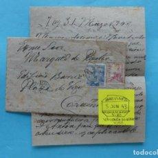 Sellos: FILATELIA - CARTA - MATASELLO FERROCARRIL AMBULANTE VALENCIA DO MINHO VIGO 5 JUNIO 1943. Lote 135773714