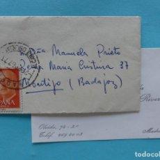 Sellos: FILATELIA - CARTA - MATASELLO FERROCARRIL MADRID ALCANCE DELICIAS 2 FEBRERO 1967. Lote 135786982