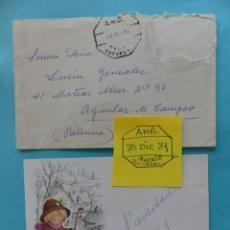 Sellos: FILATELIA - CARTA - MATASELLO FERROCARRIL AMBULANTE MADRID SUCURSAL 30 DICIEMBRE 1981. Lote 135787478