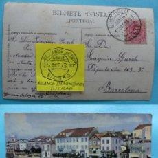 Sellos: FILATELIA - POSTAL - MATASELLO FERROCARRIL ALCANCE ESTACION NORTE BILBAO 15 OCTUBRE 1913. Lote 135800730