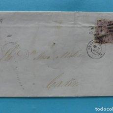 Sellos: FILATELIA CARTA DE LUTO EDIFIL 98 MATASELLO PARRILLA CON CIFRA 7 FECHADOR SEVILLA CIERRE LACRE NEGRO. Lote 136285234