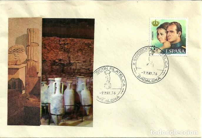 SOBRE CIRCULADO - EXPOSICIÓN FILATÉLICA DE BADALONA - 1976 (Sellos - Historia Postal - Sello Español - Sobres Circulados)