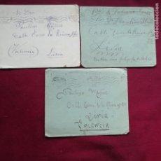 Sellos: GUERRA DE MARRUECOS. 3 SOBRES CIRCULADOS CON FRANQUICIA. 1926. Lote 144774874