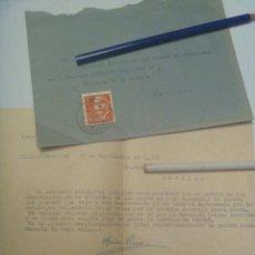 Sellos: FRENTE DE JUVENTUDES - FALANGE : CARTA DESDE UMBRETE AL DELEGADO PROVINCIAL . SEVILLA, 1960. Lote 144788386