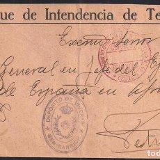 Selos: AFRICA. CIRCA 1936. ESPAÑA. SPAIN. CEUTA A TETUAN. FRANQUICIA DEL REGIMIENTO DE INFANTERIA.. Lote 144942806