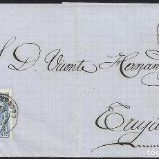 Sellos: CACERES. 1867. ESPAÑA. SPAIN. 4 CUARTOS. ED. 88. LOGROSÁN A TRUJILLO.. Lote 144953546