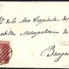 Sellos: LOGROÑO. 1854. ESPAÑA. SPAIN. 6 CUARTOS. ED. 24. BELORADO A BURGOS.. Lote 145344125