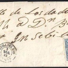 Francobolli: SEVILLA. 1865. ESPAÑA. SPAIN. 4 CUARTOS. ED. 75. LORA DEL RIO A SEVILLA.. Lote 145346662