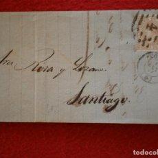 Sellos: CARTA AÑO 1867 CORUÑA A SANTIAGO BONITA PARRILLA CON CIFRA EDIFIL 96. Lote 148866730