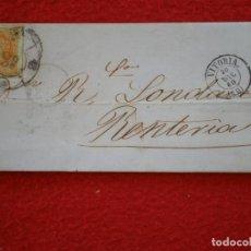 Sellos: CARTA AÑO 1860 VITORIA RENTERÍA RUEDA CARRETA 48 BONITA SOBRE EDIFIL 52. Lote 148866750