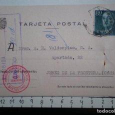 Sellos: TARJETA AÑO 1963 FECHADOR AMBULANTE MARTOS JAÉN A JEREZ CÁDIZ. Lote 148867885