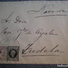 Sellos: SOBRE DE CARTA AÑO 1898 FECHADORES LAGUARDIA Y TUDELA EDIFIL 219 Y 240. Lote 148868124