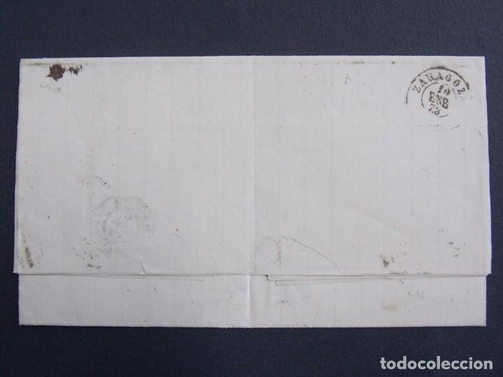 Sellos: ENVUELTA CARTA , MATASELLOS MADRID ( ANGOITIA Y COMP ) A ZARAGOZA , AÑO 1873 , EDIFIL 121 ... A1305 - Foto 2 - 150629702