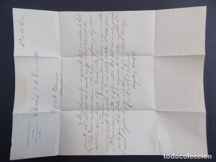 Sellos: ENVUELTA CARTA , MATASELLOS MADRID ( ANGOITIA Y COMP ) A ZARAGOZA , AÑO 1873 , EDIFIL 121 ... A1305 - Foto 3 - 150629702