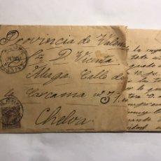 Sellos: ALCALÁ DE HENARES - CHELVA . SOBRE FRANQUEADO (A.1926). Lote 151178434