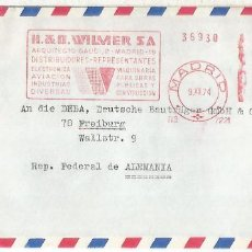 Sellos: MADRID CC FRANQUEO MECANICO METER WILMER SA ELECTRONICA AVIACION ELECTRONIC . Lote 154262694