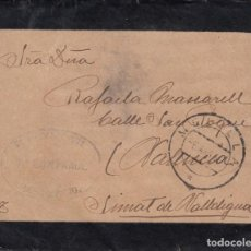 Sellos: 1917 MATASELLOS CIRCULAR MELILLA, SIMAT DE VALLDIGNA, SELLO TAMPON GUARDIA CIVIL 7 COMPAÑIA. Lote 155923014