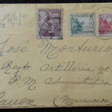Sellos: SOBRE CIRCULADO. OLOT-XAUEN. GERONA-MARRUECOS. 1941.. Lote 156978246