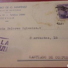 Sellos: CENSURA SEVILLA 1939 HEREDERO G.MARTINEZ. Lote 157079604