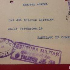 Sellos: CENSURA 1939 AÑO VICTORIA VALENCIA GONZALO SORIANO RIBA. Lote 157081302