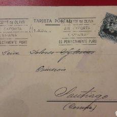 Sellos: 1932 ALCOY RODILLO EL ACEITE OLIVA QUE EXPORTA ESPAÑA ES PERFECTAMENTE PURO.JOSE FERRANDIZ BELDA. Lote 157212413