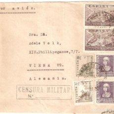 Sellos: SOBRE CIRCULADO BARCELONA VIENA 1939 CENSURA MILITAR . Lote 160716486