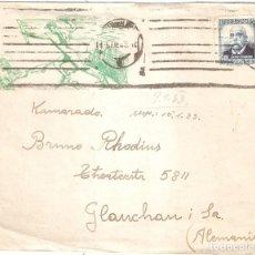 Sellos: SOBRE CIRCULADO BARCELONA ALEMANIA 1933 REPÚBLICA. Lote 160717226
