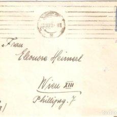 Sellos: SOBRE CIRCULADO BARCELONA VIENA 1933 REPÚBLICA CON CENSURA. Lote 160717862