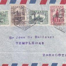 Sellos: IFNI EMISIONES LOCALES PATRIOTICAS (EDIFIL 4/8) EMISION PRIVADA MUY RARA EN CARTA 1940. OCASION.. Lote 3257227