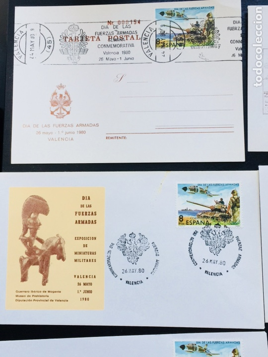 Sellos: Día de las Fuerzas Armadas 1981 colección sobres exposiciones - Foto 4 - 169685261