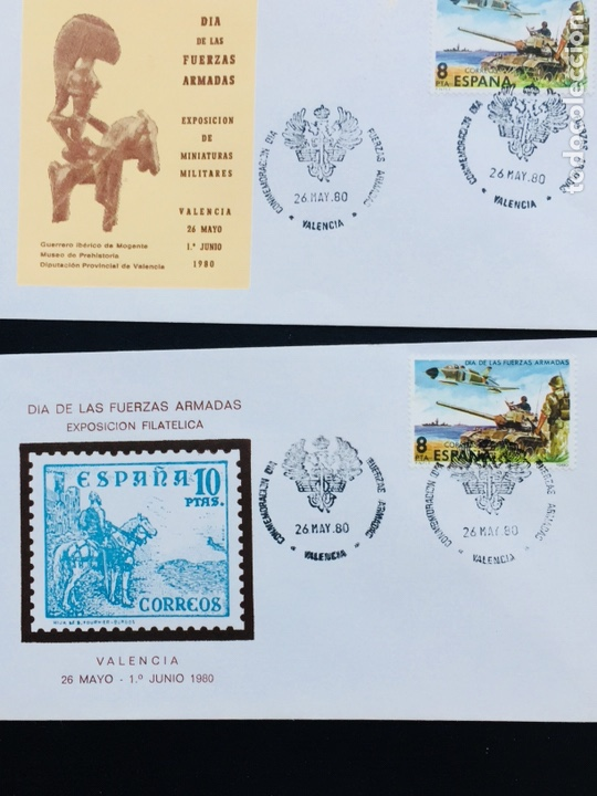 Sellos: Día de las Fuerzas Armadas 1981 colección sobres exposiciones - Foto 5 - 169685261