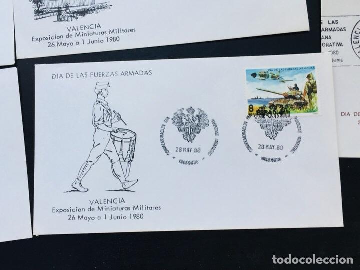 Sellos: Día de las Fuerzas Armadas 1981 colección sobres exposiciones - Foto 6 - 169685261