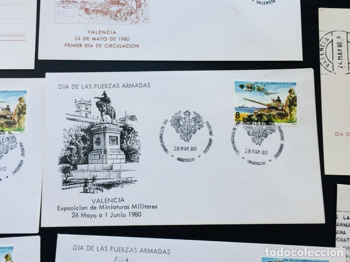 Sellos: Día de las Fuerzas Armadas 1981 colección sobres exposiciones - Foto 7 - 169685261