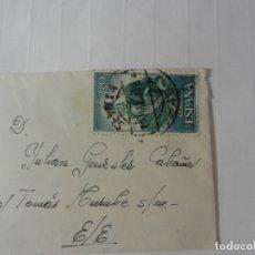 Sellos: SELLO ESPAÑA 80 CTS. - CORRIDA DE TOROS - SOBRE CIRCULADO Y TARJETA DE CONDOLENCIA. 1960. . Lote 175341038