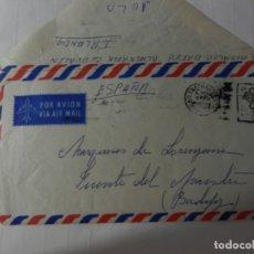 Sellos: CARTA PRIVADA POR AVIÓN A MARQUESES DE LORENZANA - FRANQUEO ALEMÁN 1970. . Lote 175343182