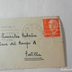 Sellos: SELLO 1 PTA. FRANCISCO FRANCO - SOBRE CIRCULADO 1960.. Lote 175533933