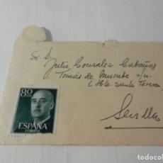 Sellos: SELLO 80 CTS. FRANCISCO FRANCO - SOBRE CIRCULADO 1960. . Lote 175534440