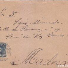 Sellos: ALFONSO XIII CADETE EN CARTA CIRCULADA 1901 DE TALAVERA DE LA REINA (TOLEDO) A MADRID. LLEGADA. MPM.. Lote 176074952