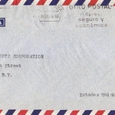 Sellos: 10 PTS DIA MUNDIAL SELLO 1964 EN CARTA CIRCULADA 1965 CON RODILLO VIA AEREA BARCELONA-NUEVA YORK MPM. Lote 176076549