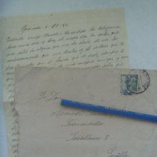 Sellos: CARTA Y SOBRE CIRCULADA DESDE Dª MENCIA, CORDOBA , A MAIRENA DEL ALCOR, 1946. SELLO DE FRANCO. Lote 176313487