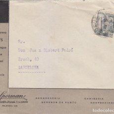 Sellos: RARA PUBLICIDAD SOMBRERO DIK'S EN CARTA COMERCIAL CIRCULADA 1943 DE LA CORUÑA A BARCELONA. MPM.. Lote 176494527